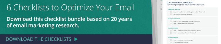 6 checklists to optimize your email