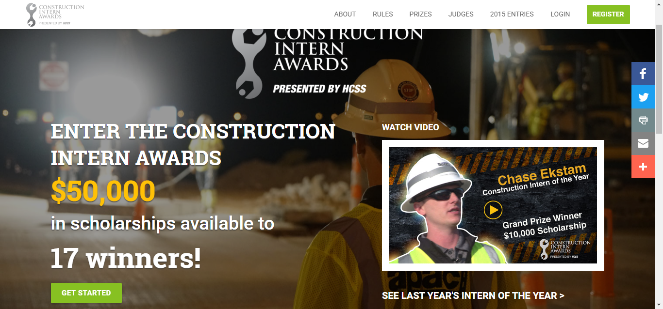 Construction Intern Awards