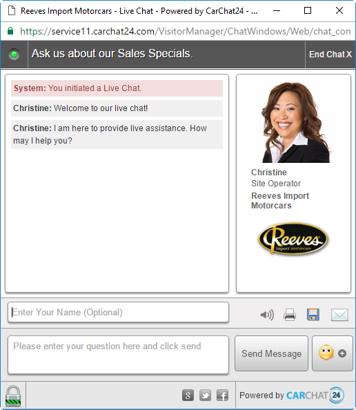 Reeves Live Chat