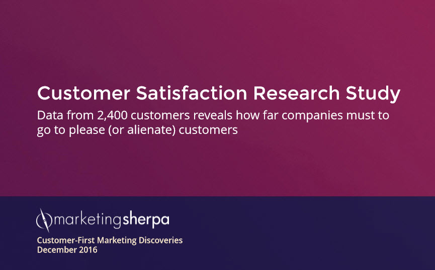 MarketingSherpa Customer Satisfaction Research Study