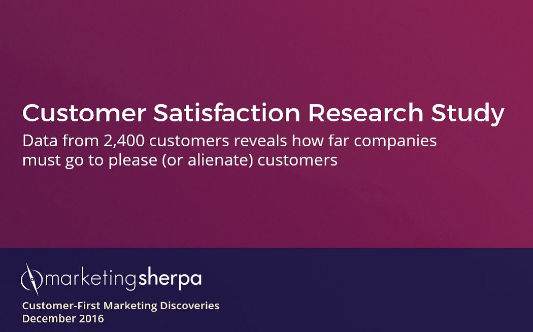 MarketingSherpa Customer Satisfaction Research Study