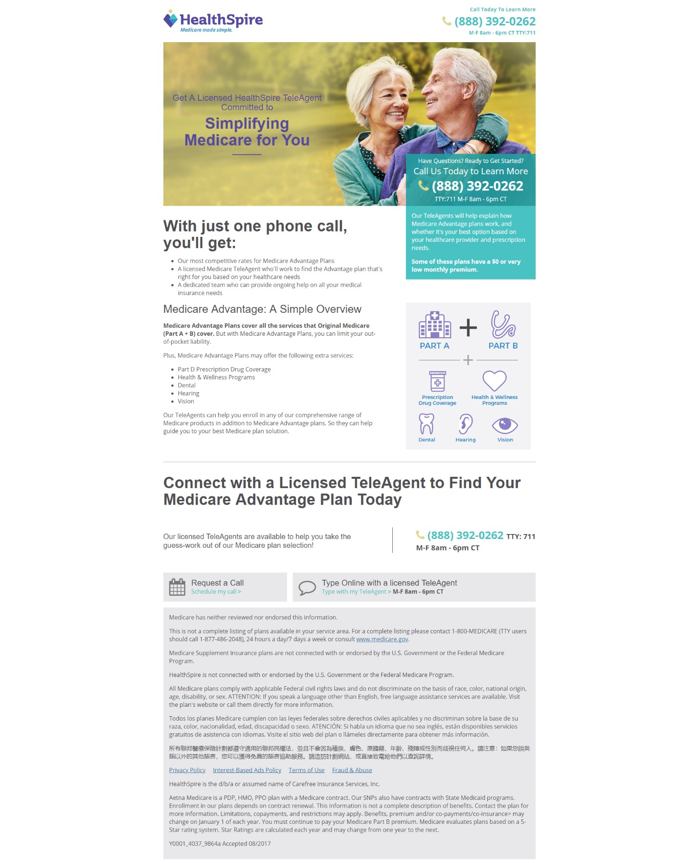 Landing Page Optimization: How Aetna's HealthSpire startup