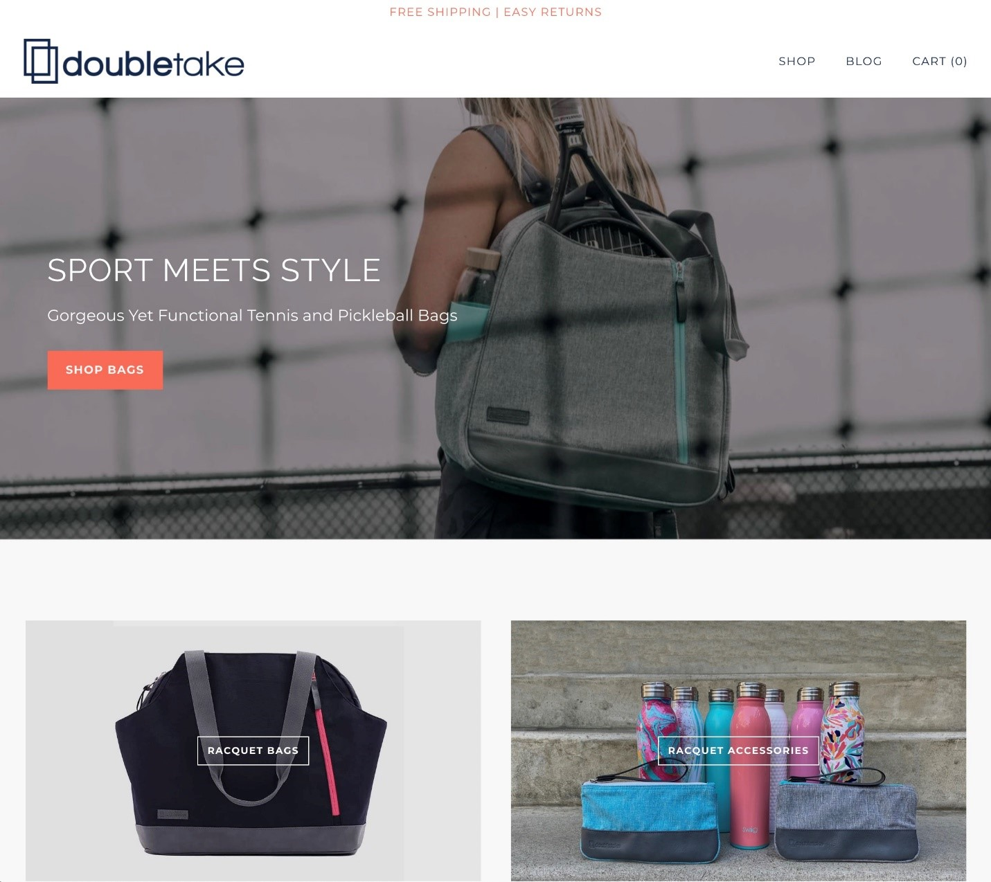 Creative Sample #4: New homepage copy for bag company