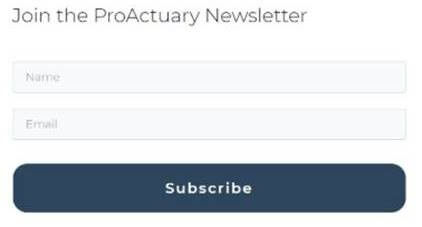 Creative Sample #10: Original email newsletter signup for actuary website