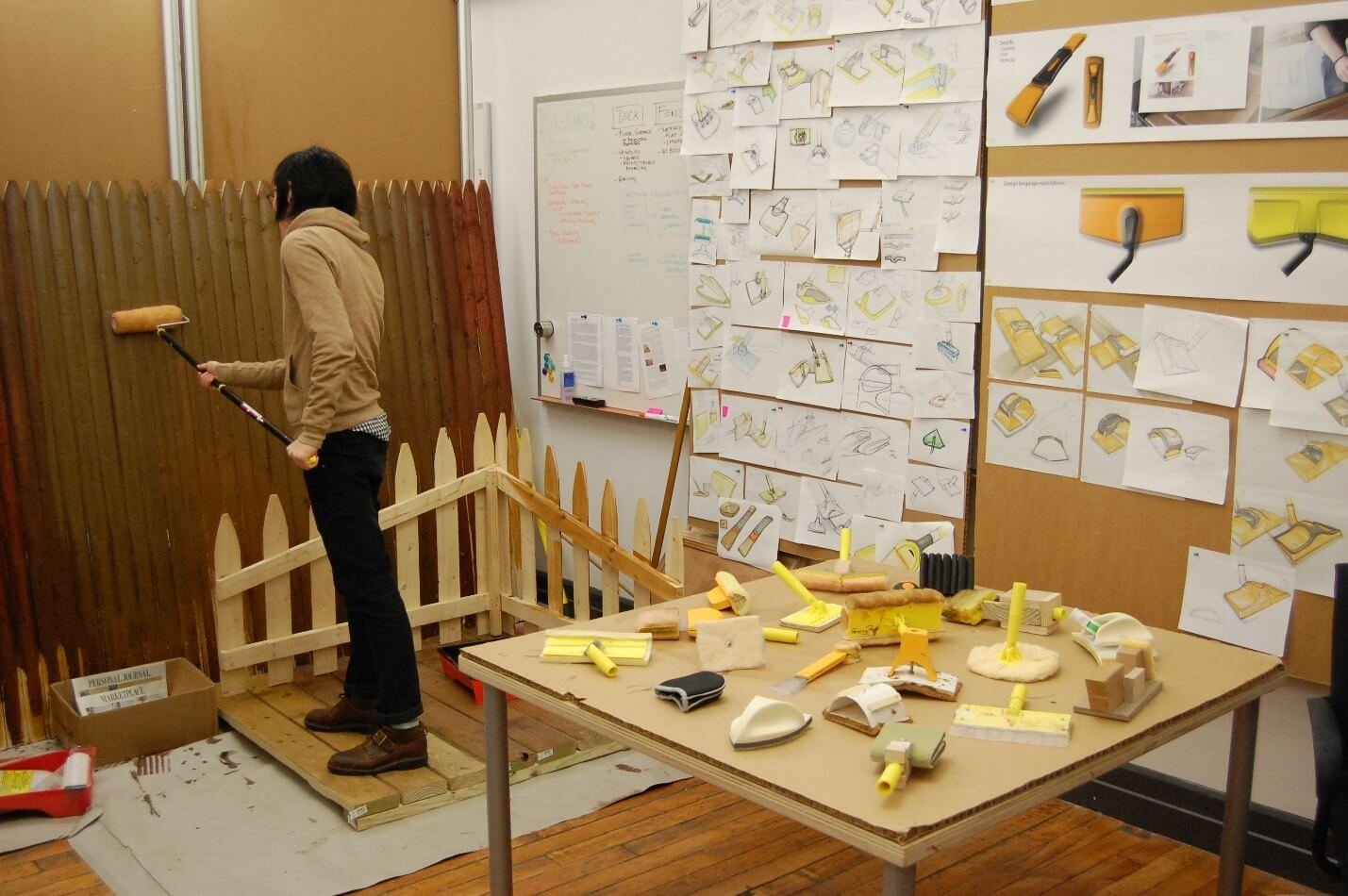 Creative Sample #6: Design consultant trying to mimic the customer experience's using wood tools
