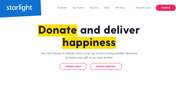 Creative Sample #7: Previous donation landing page for nonprofit