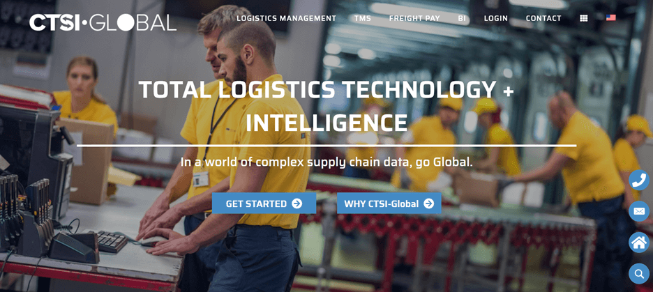 Creative Sample #2: New homepage for supply chain management company