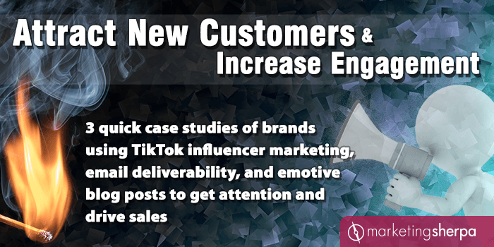 Attract New Customers and Increase Engagement: 3 quick case studies of brands using TikTok influencer marketing, email deliverability, and emotive blog posts to get attention and drive sales