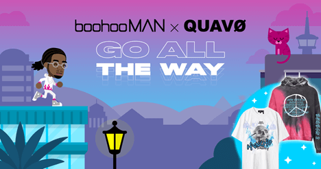 Creative Sample #3: Video game promoting clothing collaboration between fashion company boohooMAN and rapper Quavo