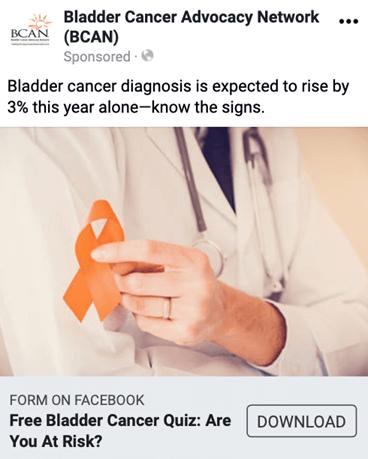 Creative Sample #1: Facebook ad for nonprofit organization