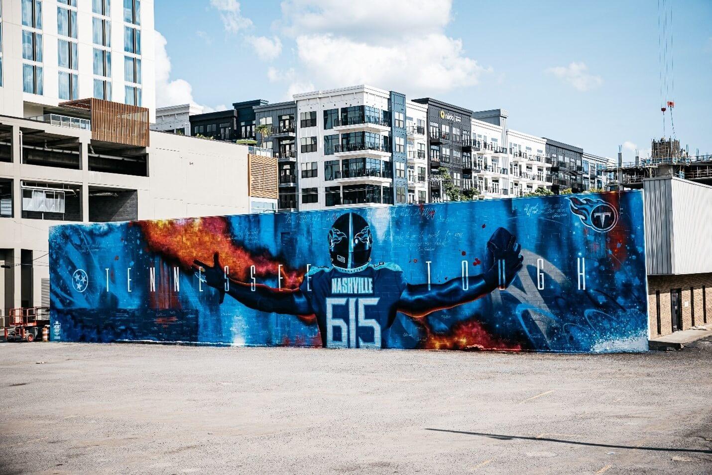 Creative Sample #6: Football team's mural