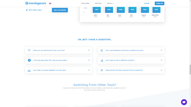 """Creative Sample #2: Repeatable """"filler"""" copy on software company's 'alternative to' landing page"""