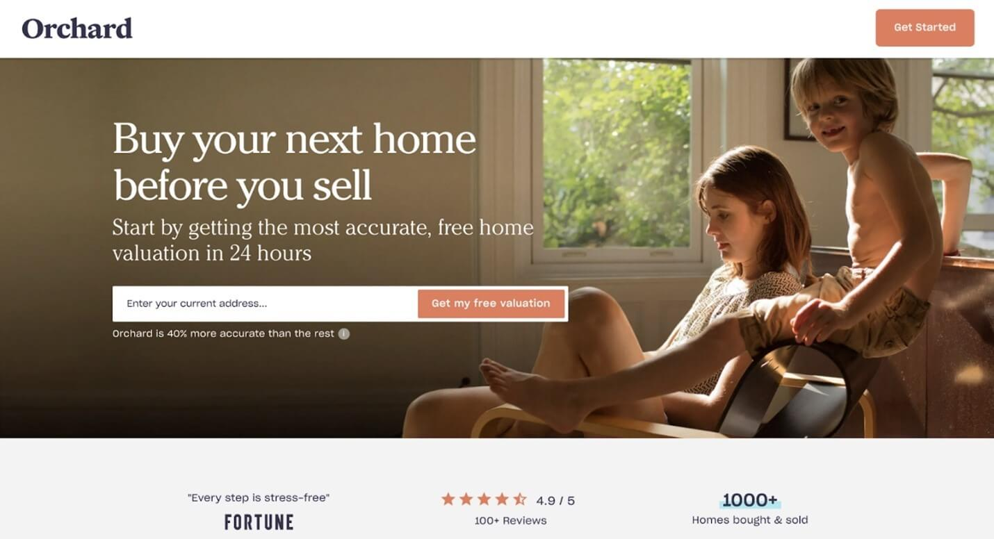 Creative Sample #3: Control landing page for real estate company