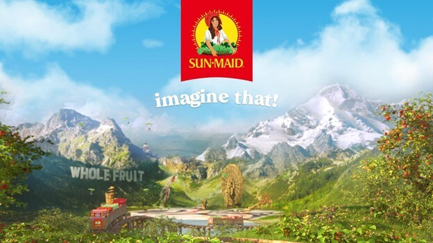 Creative Sample #1: Imagery from new campaign for Sun-Maid Raisins