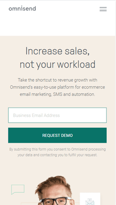 Creative Sample #7: Call-to-action on SaaS website (before)