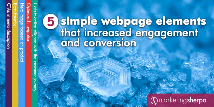 5 simple webpage elements that increased engagement and conversion