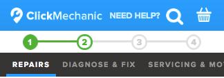 Creative Sample #12: Treatment mobile website header for car repair platform