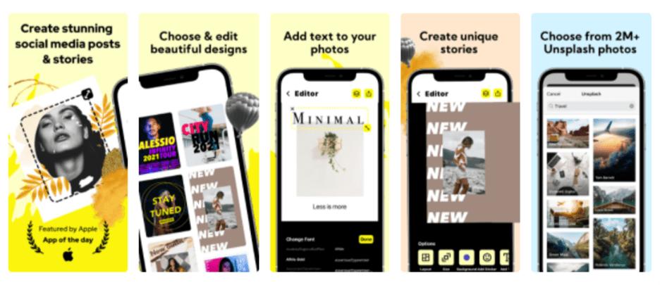 Creative Sample #3: Lower-performing app screenshots