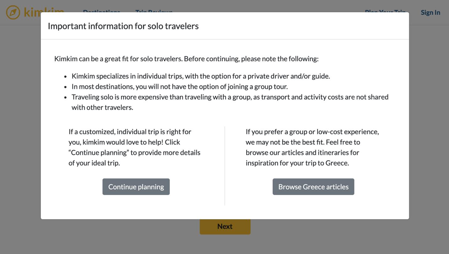 Creative Sample #4: Solo traveler warning